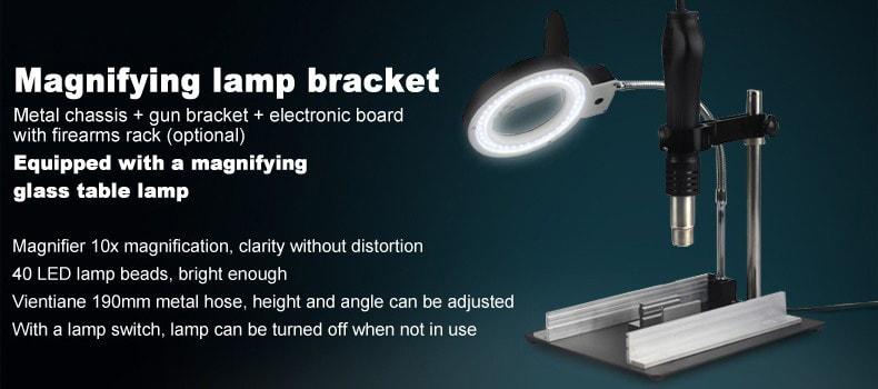 Desktop Magnifier Illuminated LED Lights Maintenance Platform YIHUA-628TD #YIHUA