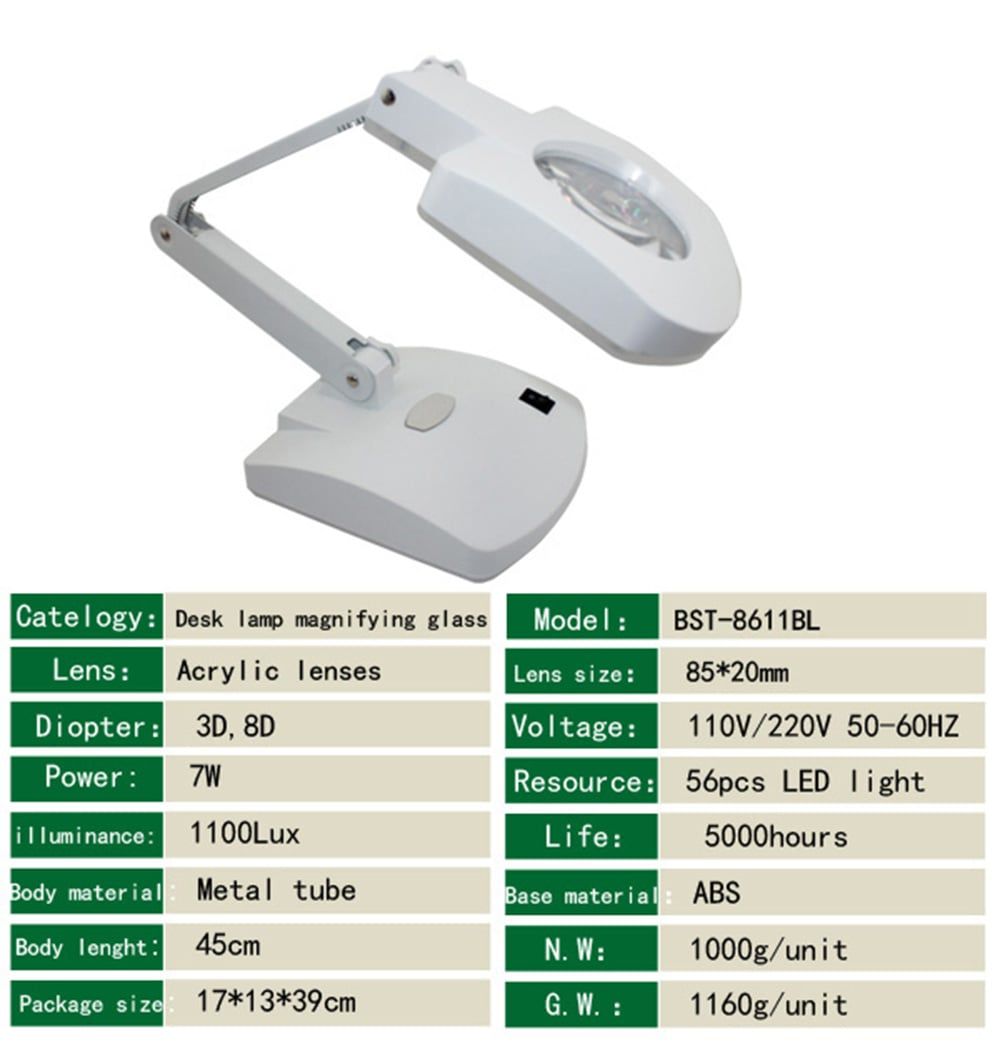 Table Lamp With Magnifying Lens Images