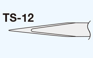 Goot Precision Tweezers Small-Sized Standard TS-12