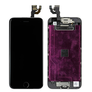 Replacement for iPhone 6 LCD Screen Full Assembly with Black Ring - Black