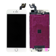 Replacement for iPhone 6 Plus LCD Screen Full Assembly with Gold Ring - White