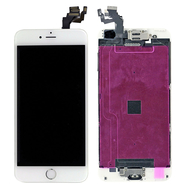 Replacement for iPhone 6 Plus LCD Screen Full Assembly with Sliver Ring - White