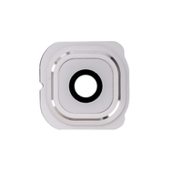Replacement for Samsung Galaxy S6 Edge Series Rear Facing Camera Lens and Bezel - White