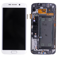 Replacement for Samsung Galaxy S6 Edge SM-G925 LCD Screen and Digitizer Assembly with Frame - White