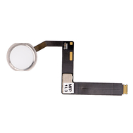 """Replacement for iPad Pro 9.7"""" Home Button Assembly with Flex Cable Ribbon - Silver"""