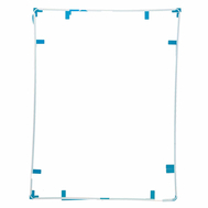 Replacement for iPad 3/4 Touch Screen Supporting Frame with Adhesive White