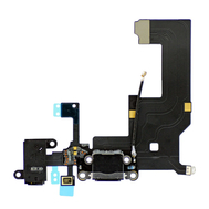 Replacement for iPhone 5 Headphone & Charging Connector Flex Cable Black