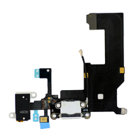 Replacement for iPhone 5 Headphone & Charging Connector Flex Cable White