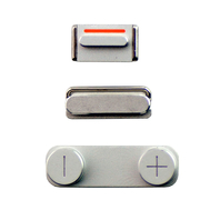 Replacement for iPhone 5 Side Buttons Silver