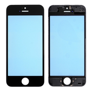 Replacement for iPhone 5C Front Glass with Cold Pressed Frame - Black