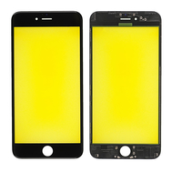 Replacement for iPhone 6 Plus Front Glass with Cold Pressed Frame - Black