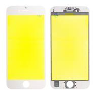 Replacement for iPhone 6S Front Glass with Cold Pressed Frame - White