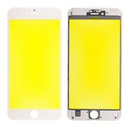 Replacement for iPhone 6S Plus Front Glass with Cold Pressed Frame - White