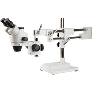 7X-45X SZM7045-STL2 Double-Arm Boom Trinocular Stereo Zoom Industrial Microscope with LED lights