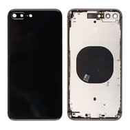 Replacement for iPhone 8 Plus Back Cover with Frame Assembly - Black