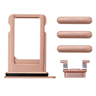Replacement for iPhone 8 Plus Side Buttons Set with SIM Tray - Gold