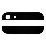Replacement for iPhone 5 Black Top and Bottom Glass Cover