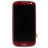 Replacement for Samsung Galaxy S3 I9300 LCD Screen and Digitizer Assembly with Front Housing Red