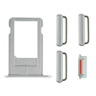 Replacement for iPhone 6 Plus Side Buttons Set with SIM Tray - Silver