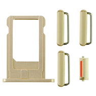Replacement for iPhone 6 Side Buttons Set with SIM Tray - Gold