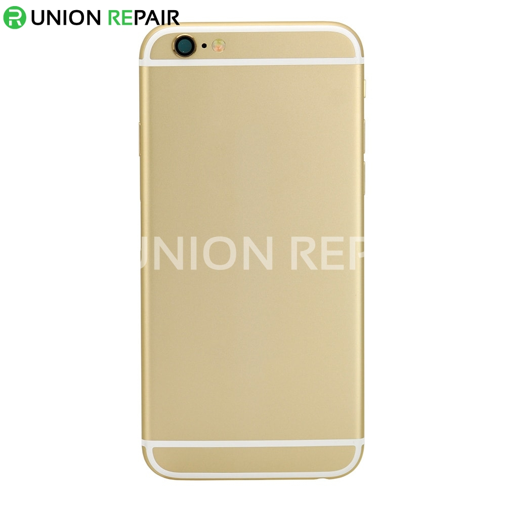 replacement for iphone 6 back cover full assembly gold. Black Bedroom Furniture Sets. Home Design Ideas