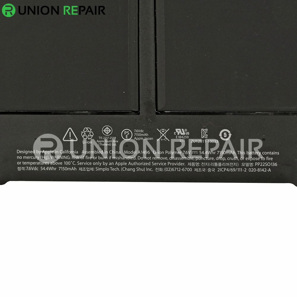 New Apple laptop Battery for A1405 A1466 A1496 A1369 for MacBook How do I replace the battery in my MacBook Air?