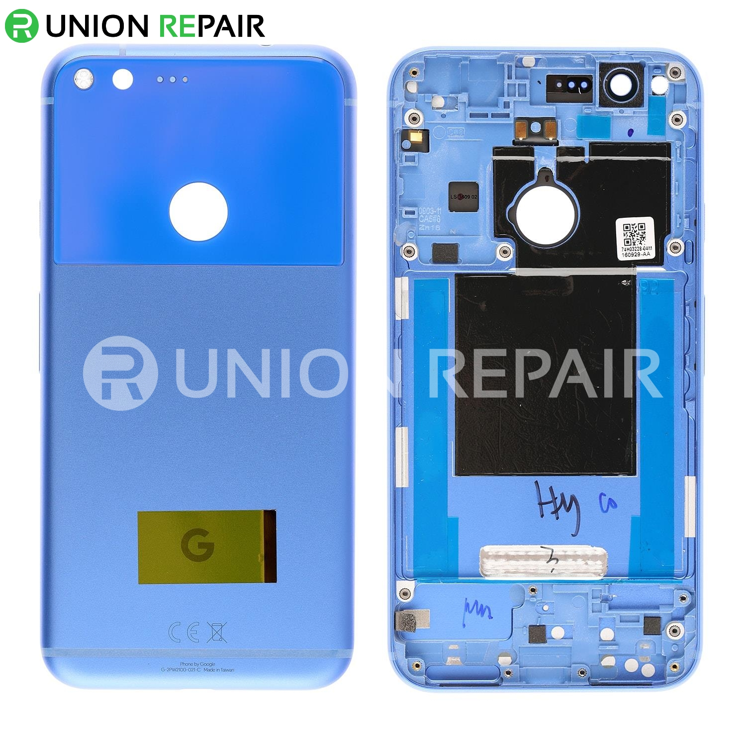 Replacement for Google Pixel XL Battery Door with Rear Housing - Blue  sc 1 st  Union Repair & for Google Pixel XL Battery Door with Rear Housing - Blue