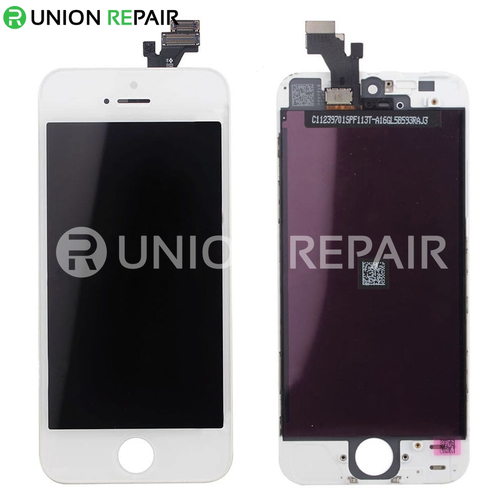iphone 5 digitizer replacement replacement for iphone 5 lcd with digitizer assembly white 6694